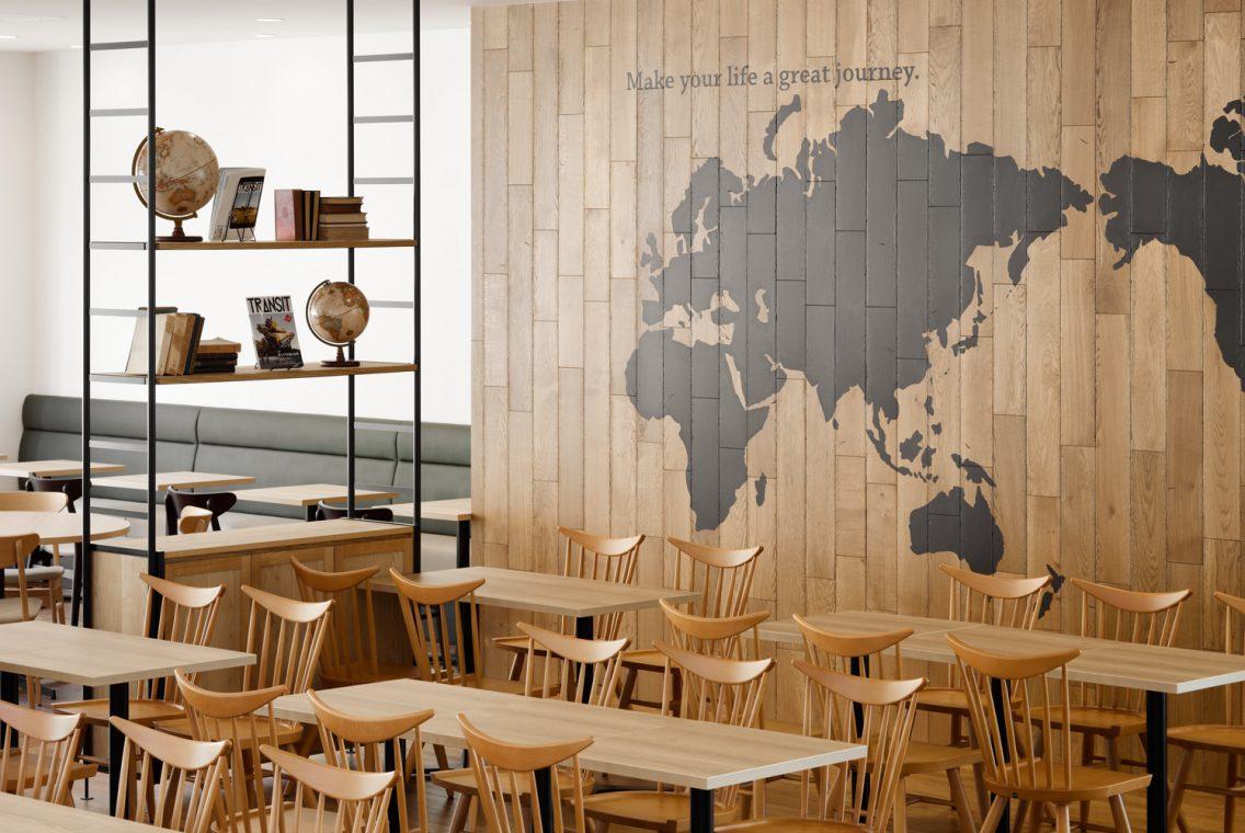 中日本航空専門学校 新校舎 食堂